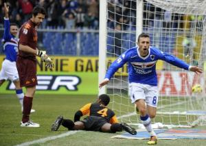 Guberti comemora o gol da vitória (Reuters)