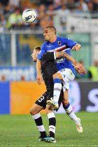 Bertani, autor de um dos gols da Samp (Il Secolo XIX)